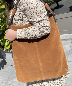 District Suede Shopper - Cognac
