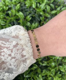 Zag Bijoux Armband Goud - Acht Muntjes