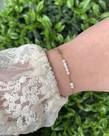 Zag Bijoux Zag Bijoux Armband Goud - White Beads