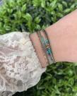 Zag Bijoux Zag Bijoux Armband Goud - Turquoise Dubble