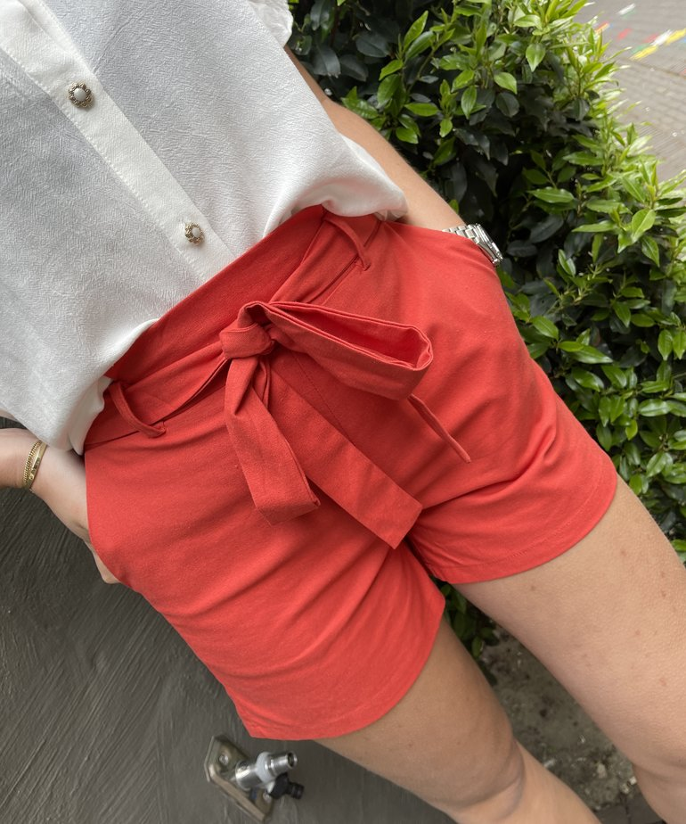 Ydence Ydence Short Blake - Coral Red