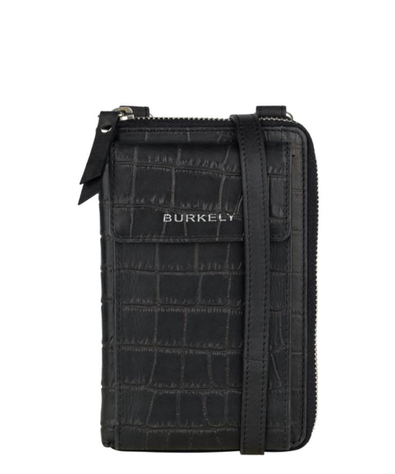 Burkely Burkely Phonebag - Croco Black