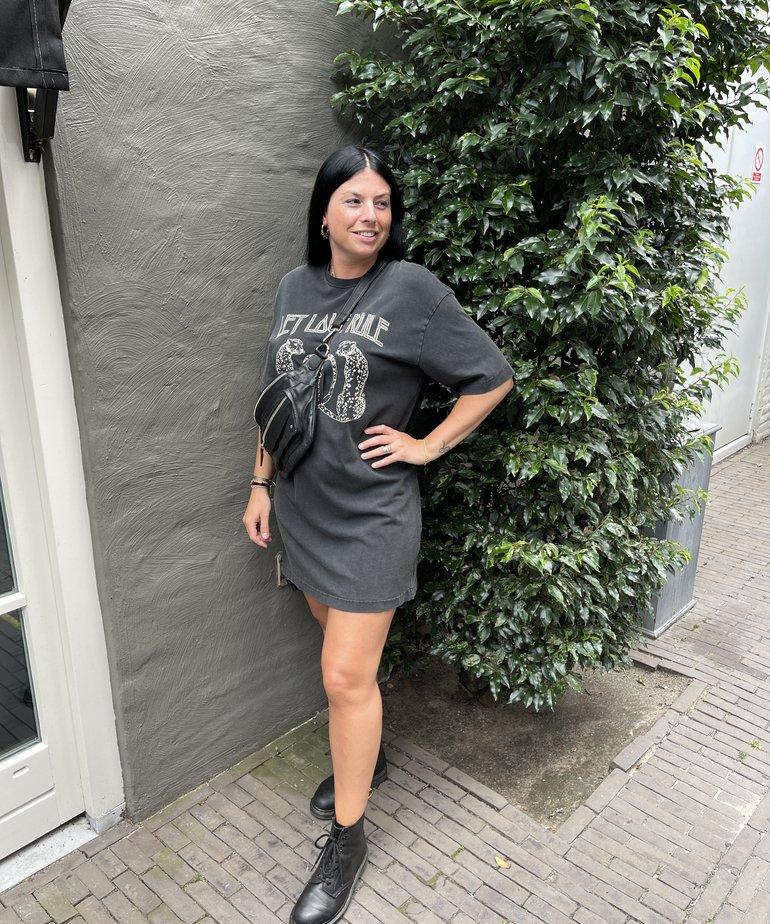 Catwalk Junkie Catwalk Junkie Dress Life is Love - Dark Grey