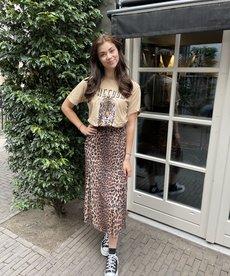 Catwalk Junkie Skirt Wild Leopard Sheer - Brown