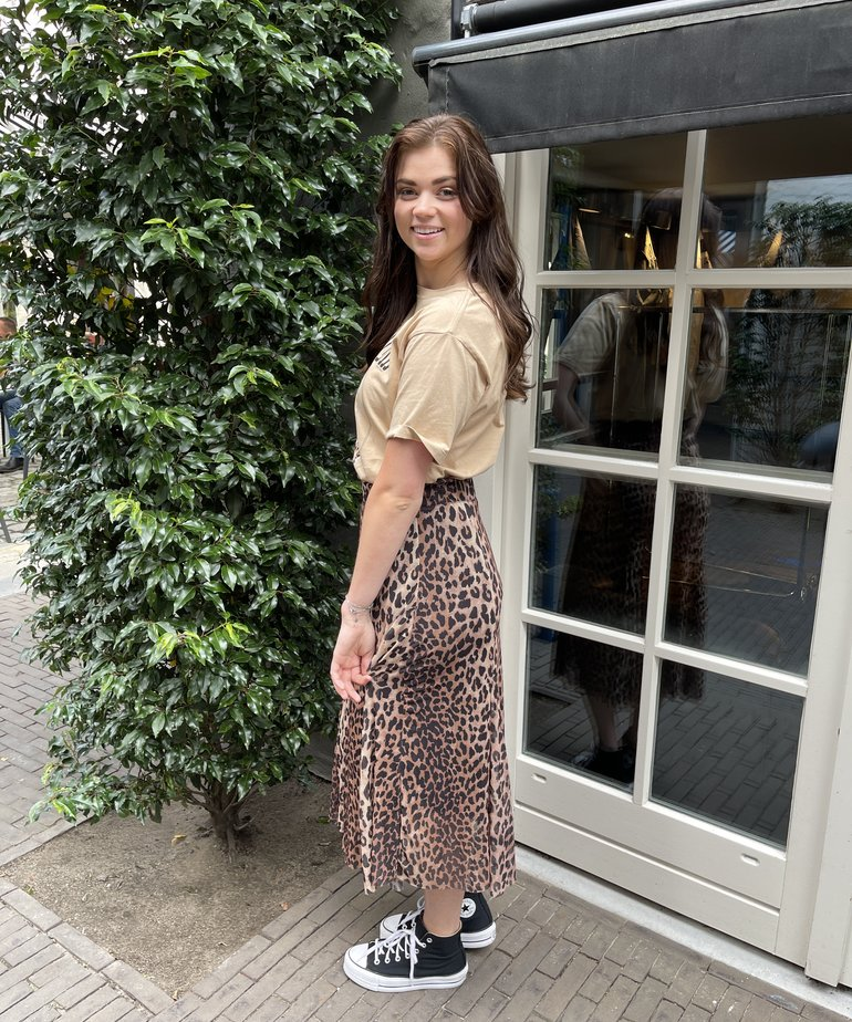 Catwalk Junkie Catwalk Junkie Skirt Wild Leopard Sheer - Brown