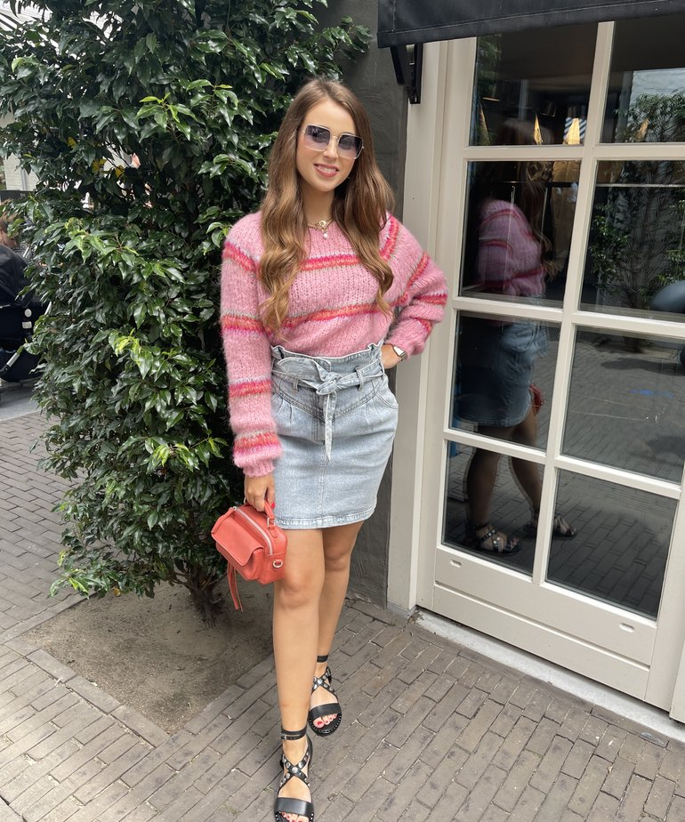 Black Colour Black Colour Toni Brushed Knit Sweater - Candy Pink