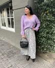 Black Colour Black Colour Luna Bias Skirt - Pastel Mint