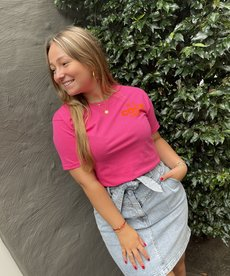 Pinned by K T-Shirt Basic Hard Pink - Coco Oranje