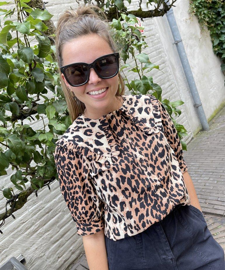 Catwalk Junkie Catwalk Junkie Blouse Wild Leopard - Brown
