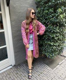 Black Colour Luna Long Kimono - Exotic Vibe