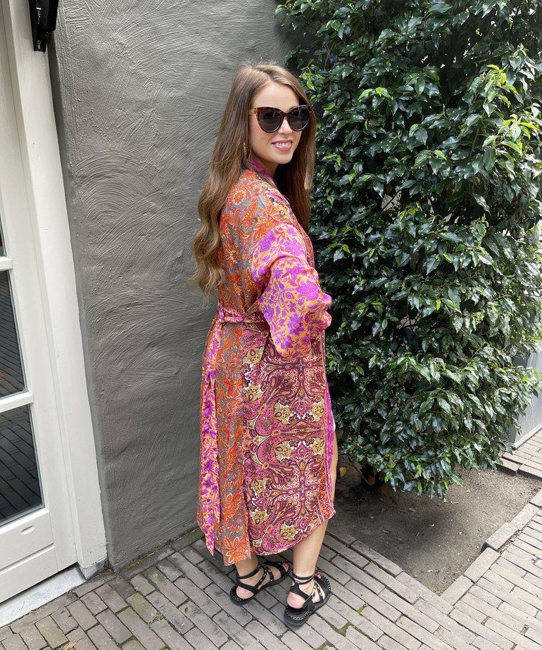 Black Colour Black Colour Luna Long Kimono - Exotic Vibe