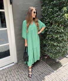 Black Colour Ollie Dress - Green