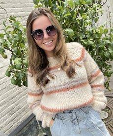 Black Colour Toni Brushed Knit Sweater - Warm Beige
