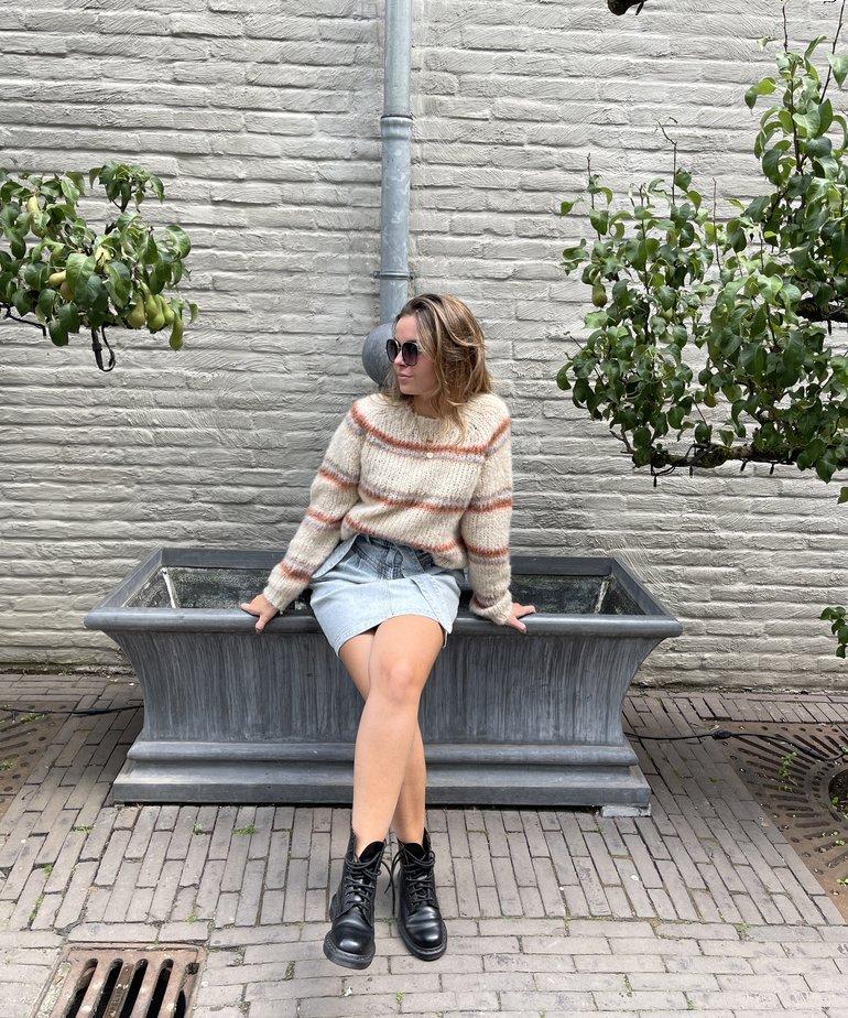 Black Colour Black Colour Toni Brushed Knit Sweater - Warm Beige
