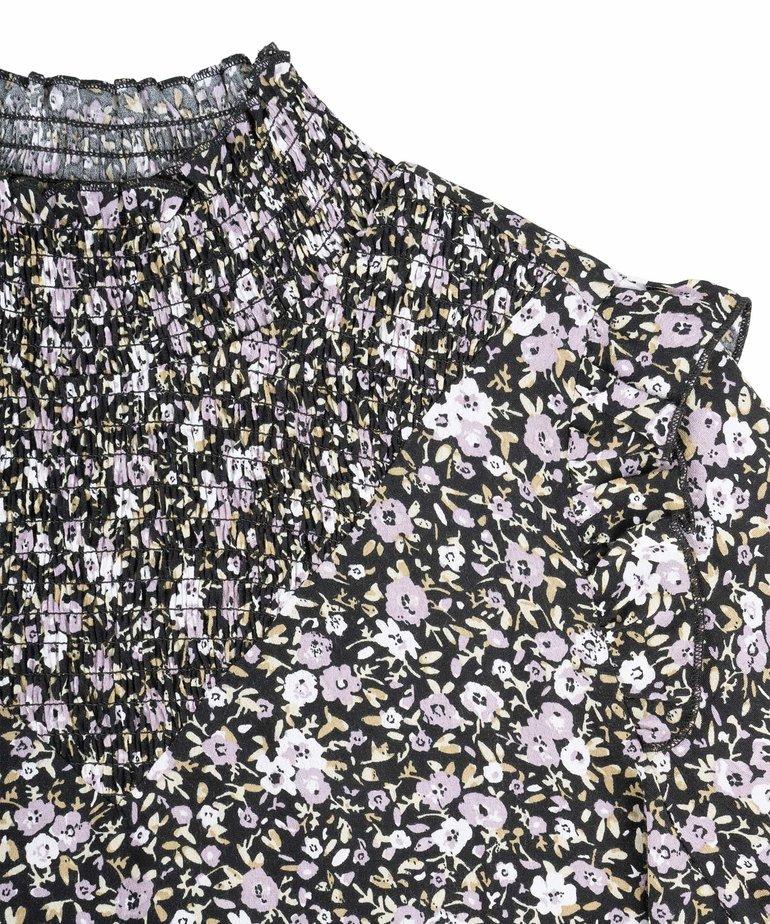Zusss Zusss Blouse met Gesmokte Details - Bloemenprint