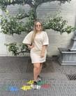 MbyM Disa Emmaline Dress - Oatmeal Melange