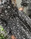 Zusss Zusss Lange Strokenjurk - Bloemenprint