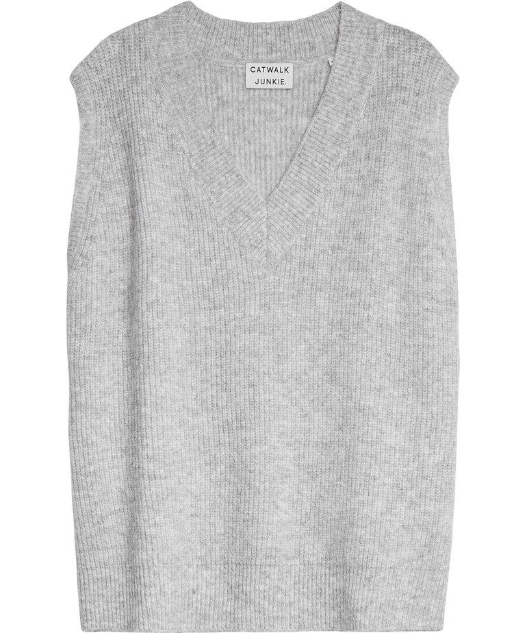 Catwalk Junkie Catwalk Junkie Knit Noemi - Light Grey Melange
