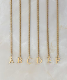 X.O Musthaves Inititaal Ketting - Goud