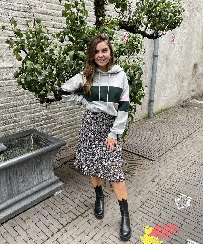 Zusss Zusss Rok met Ruffle - Bloemenprint
