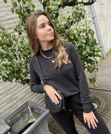 Zusss Fijne Sweater - Off-Black