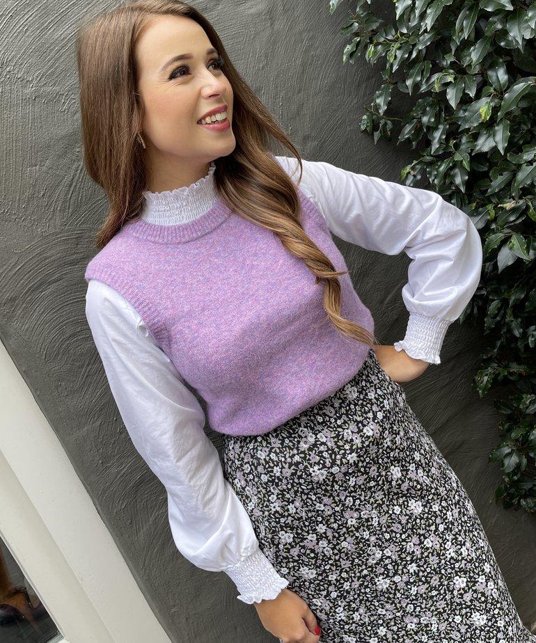 MbyM MbyM Jessika Knit - Violet Tulle Melange