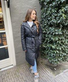 Zusss Gewatteerde Winterjas - Zwart