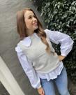 MbyM MbyM Jessiki Knit - Light Grey Melange