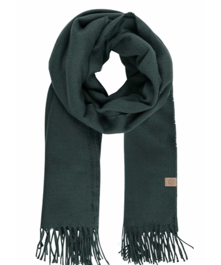 Zusss Zusss Basic Sjaal - Donkergroen