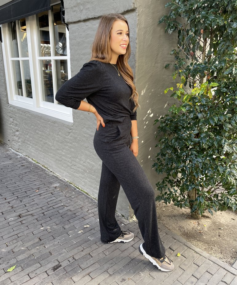 MbyM Elia Nunna Top - Dark Grey Melange