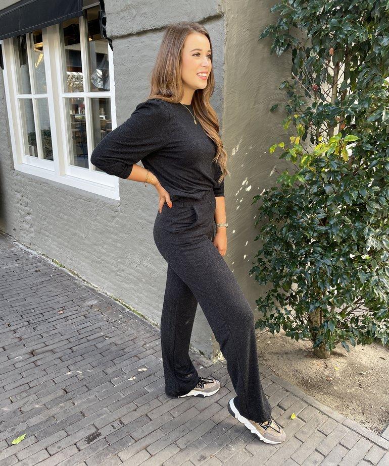 MbyM MbyM Elia Sweta Pant - Dark Grey Melange