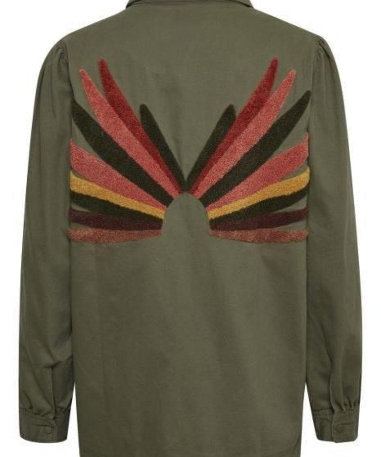 Saint Tropez Saint Tropez IdaSZ Jacket - Army Green