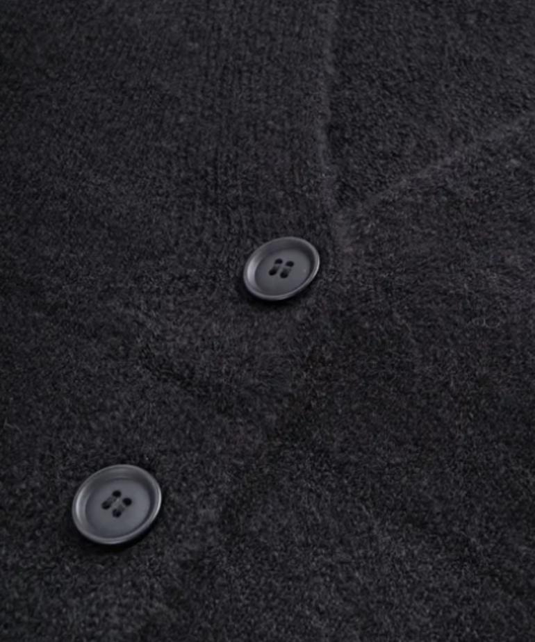 Zusss Zusss Vestje met Knopen - Zwart