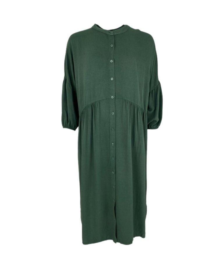 Black Colour Black Colour Ivy Shirt Dress - Dark Green