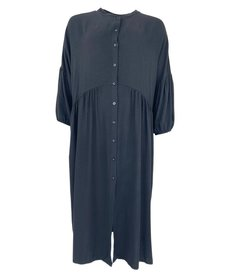 Black Colour Ivy Shirt Dress - Black