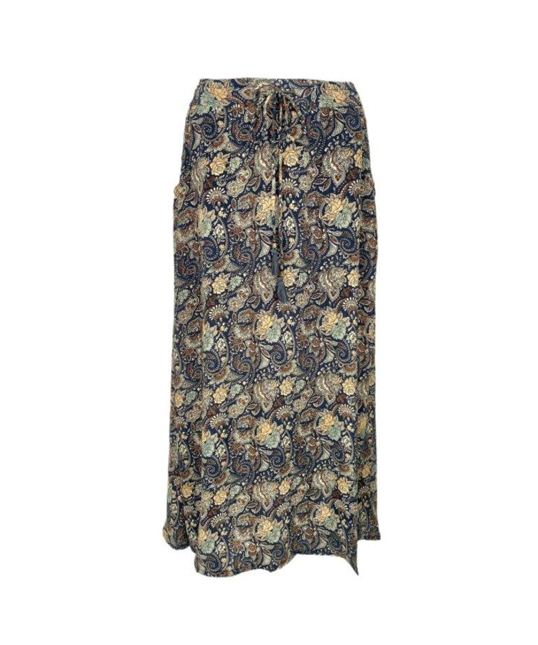Black Colour Black Colour Luna Bias Skirt - Orion Blue