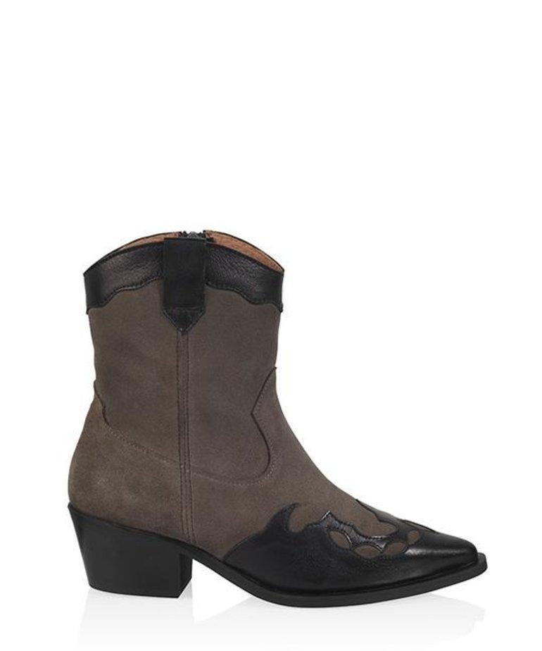 DWRS Label DWRS Label Bari Westernboots - Black/Elefante