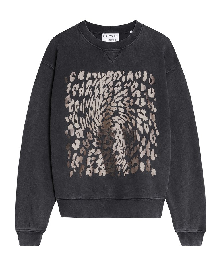 Catwalk Junkie Catwalk Junkie Sweater Leopard Swirl - Dark Grey