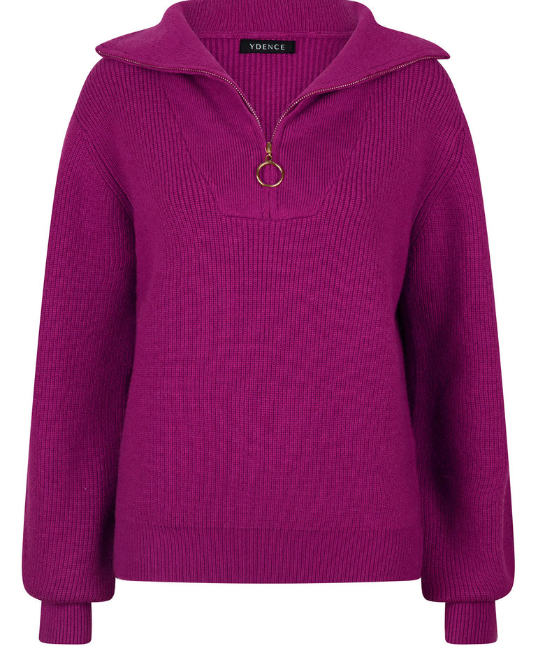 Ydence Ydence Knitted Sweater Naomi - Purple
