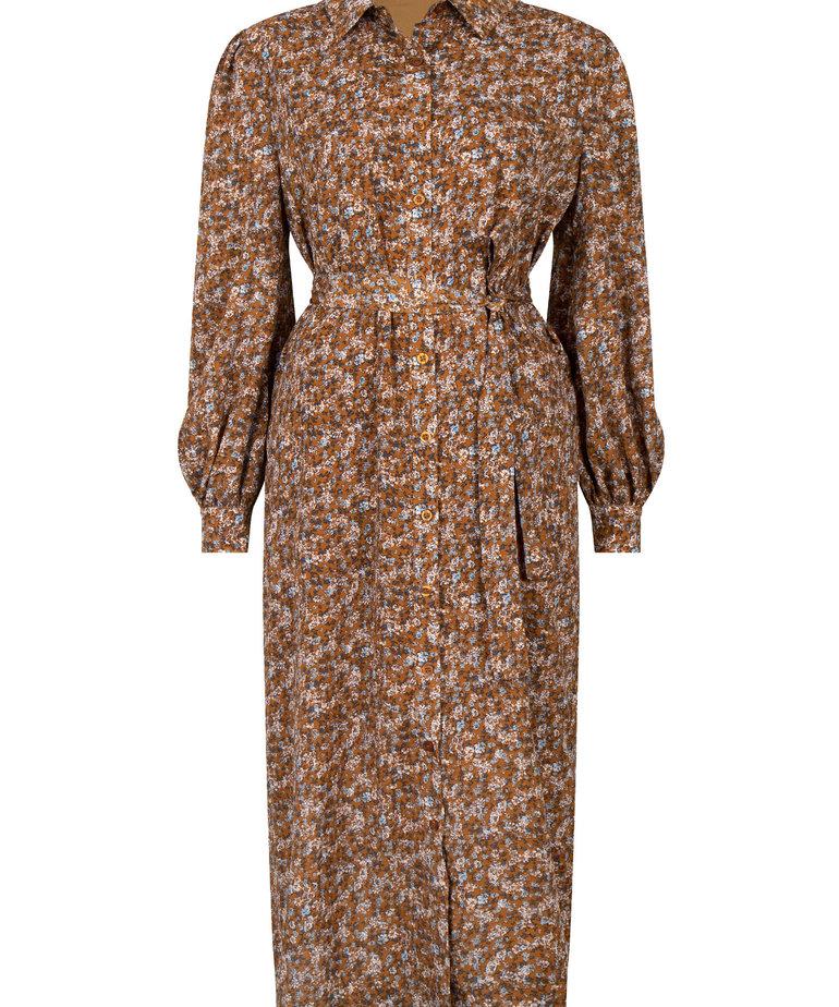 Ydence Ydence Dress Valentina - Brown Flower