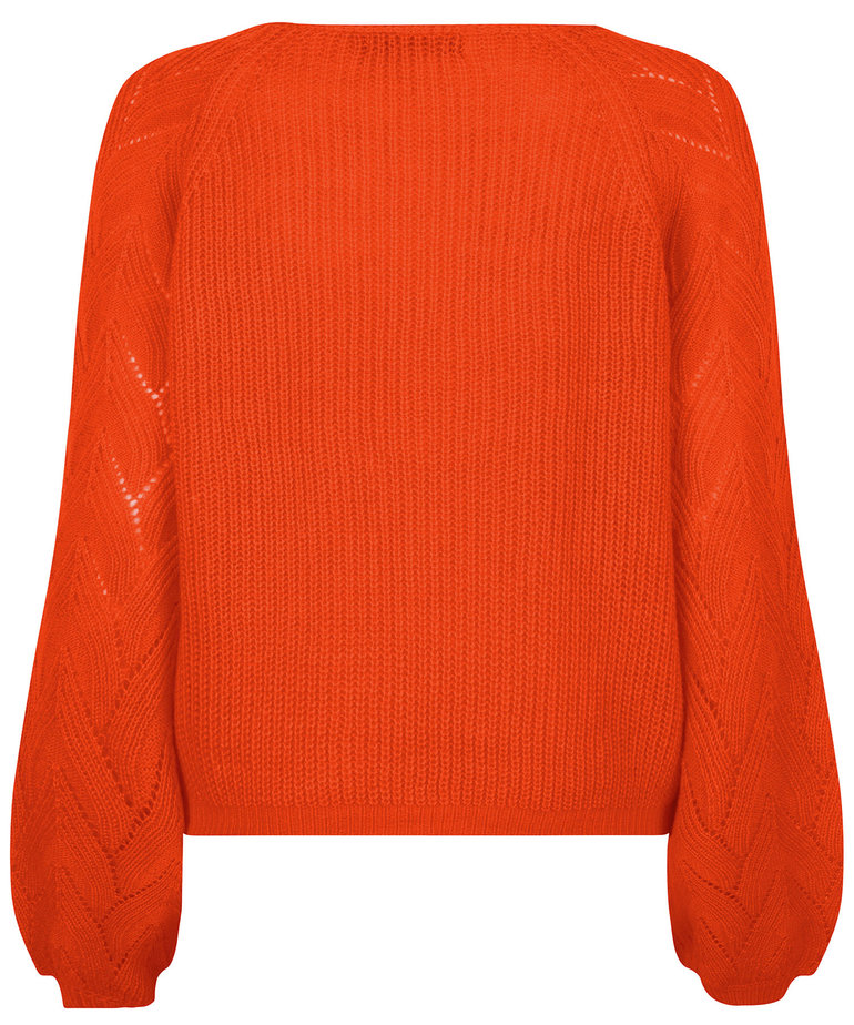 Ydence Ydence Knitted Sweater Arianne - Orange
