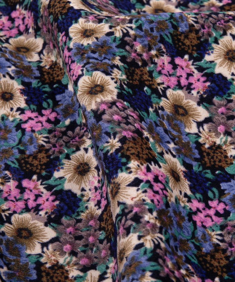 Ydence Ydence Blouse Dagmar - Blue Flower