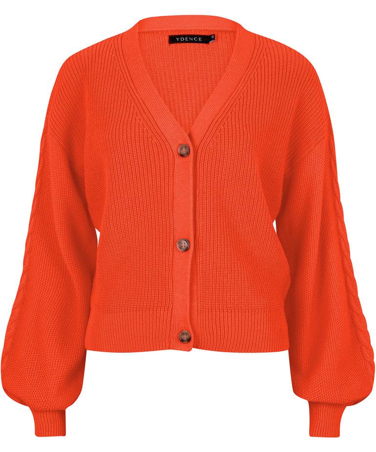 Ydence Ydence Cardigan Quin - Orange
