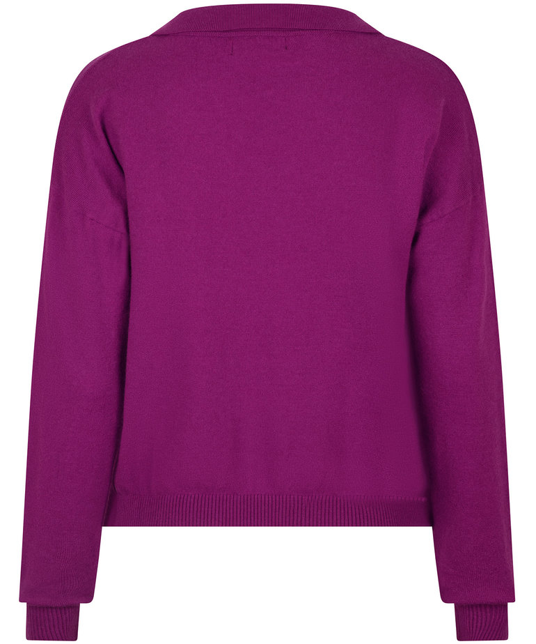 Ydence Ydence Knitted Top Gina - Purple