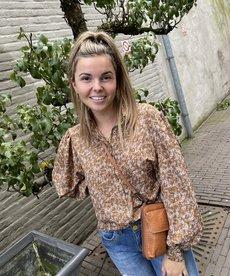Ydence Blouse Dagmar - Brown Flower
