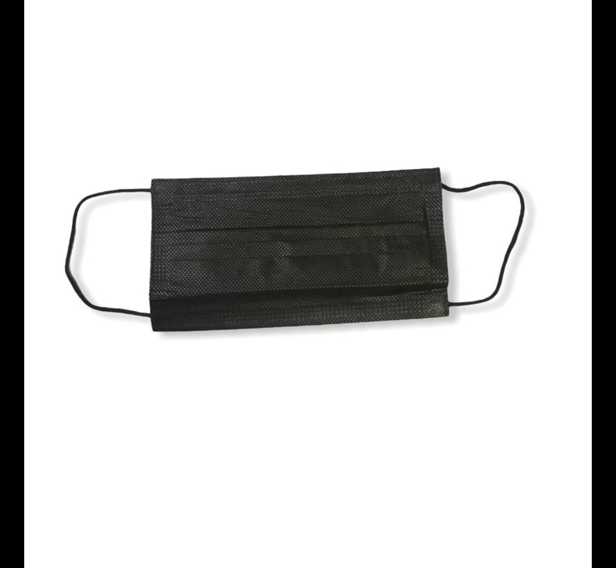 Zwart 3-laags mondkapjes Conform UNE-EN 14683-01-2020