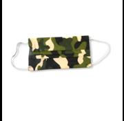 3-laags mondkapjes 10 stuks army