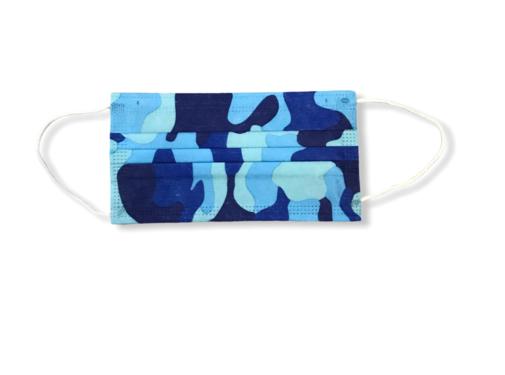 3-laags mondkapjes 10 stuks army blauw