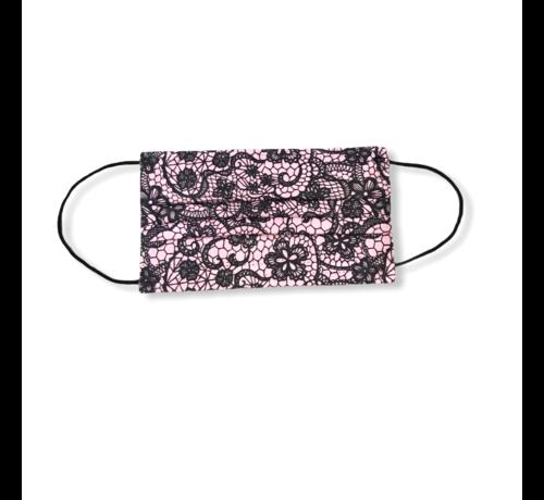 Pink patroon 3-laags mondkapjes Conform UNE-EN 14683-01-2020