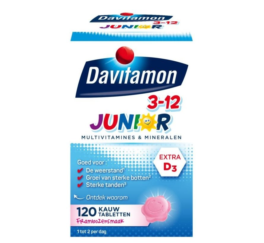 Junior 3+ framboos